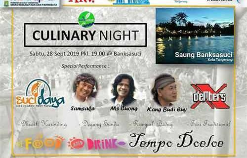 Yuk ! Nikmati Jajanan Tempo Doeloe di Culinary Night Banksasuci